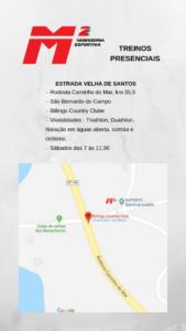 Mapa para a Estrada Velha de Santos
