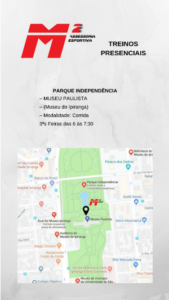 Mapa para o Parque da Independência